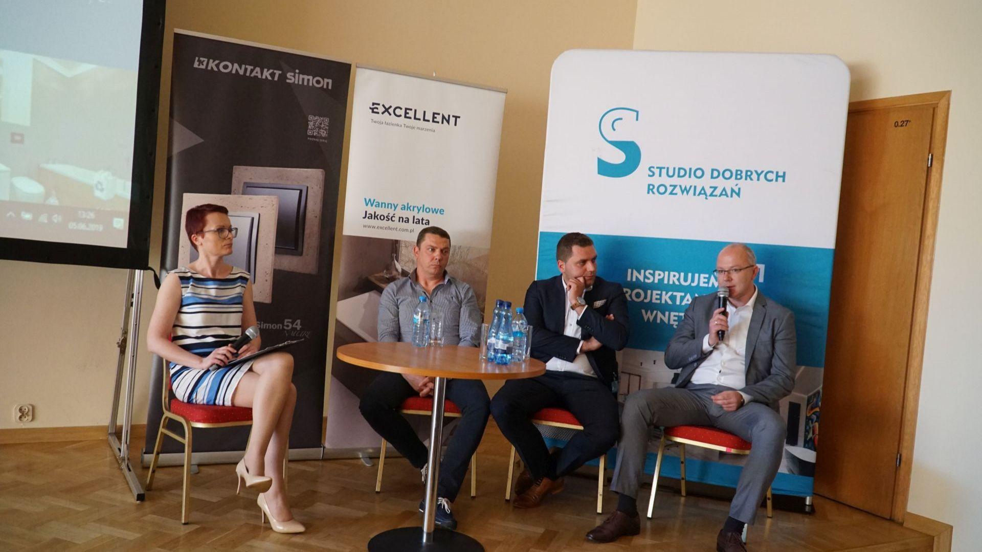 Łazienki - trendy 2019. Dyskusja podsumowująca z udziałem przedstawicieli firm Mirad, Excellent i Marmorin Design