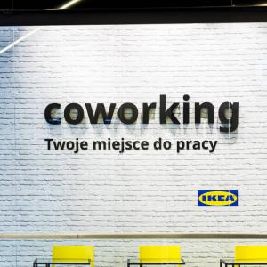 Strefa coworkingowa w Galerii Katowickiej. Fot. IKEA