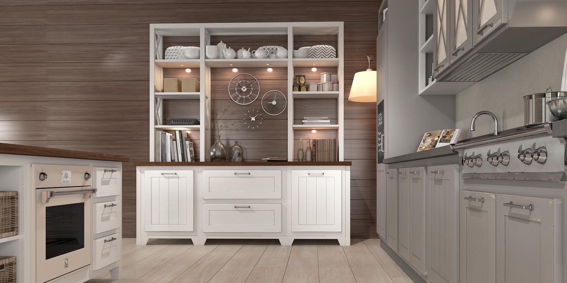 Frezowane fronty to jeden z wyznaczników stylu rustykalnego w kuchni. Fot. Lube
