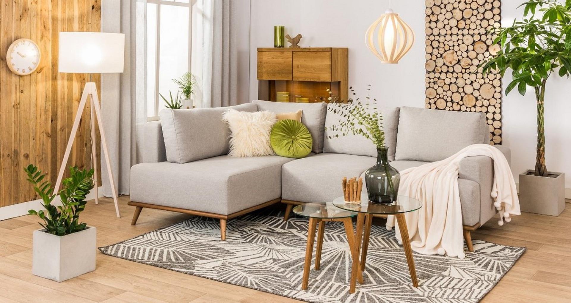 Wnętrze w stylu eko lubi proste konstrukcje i stonowane kolory w odcieniach beżu, brązu, zieleni czy szarości. Fot. Agata