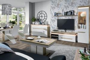 Białe meble w salonie - z połyskiem czy matowe?