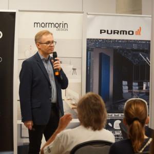 Robert Skomorowski, przedstawiciel marki Purmo - pratnera głównego wydarzenia