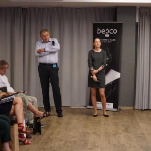 Wojciech Tomasik i Nalatalia Kuraś, przedstawiciele marki Villeroy&Boch, partnera głównego wydarzenia