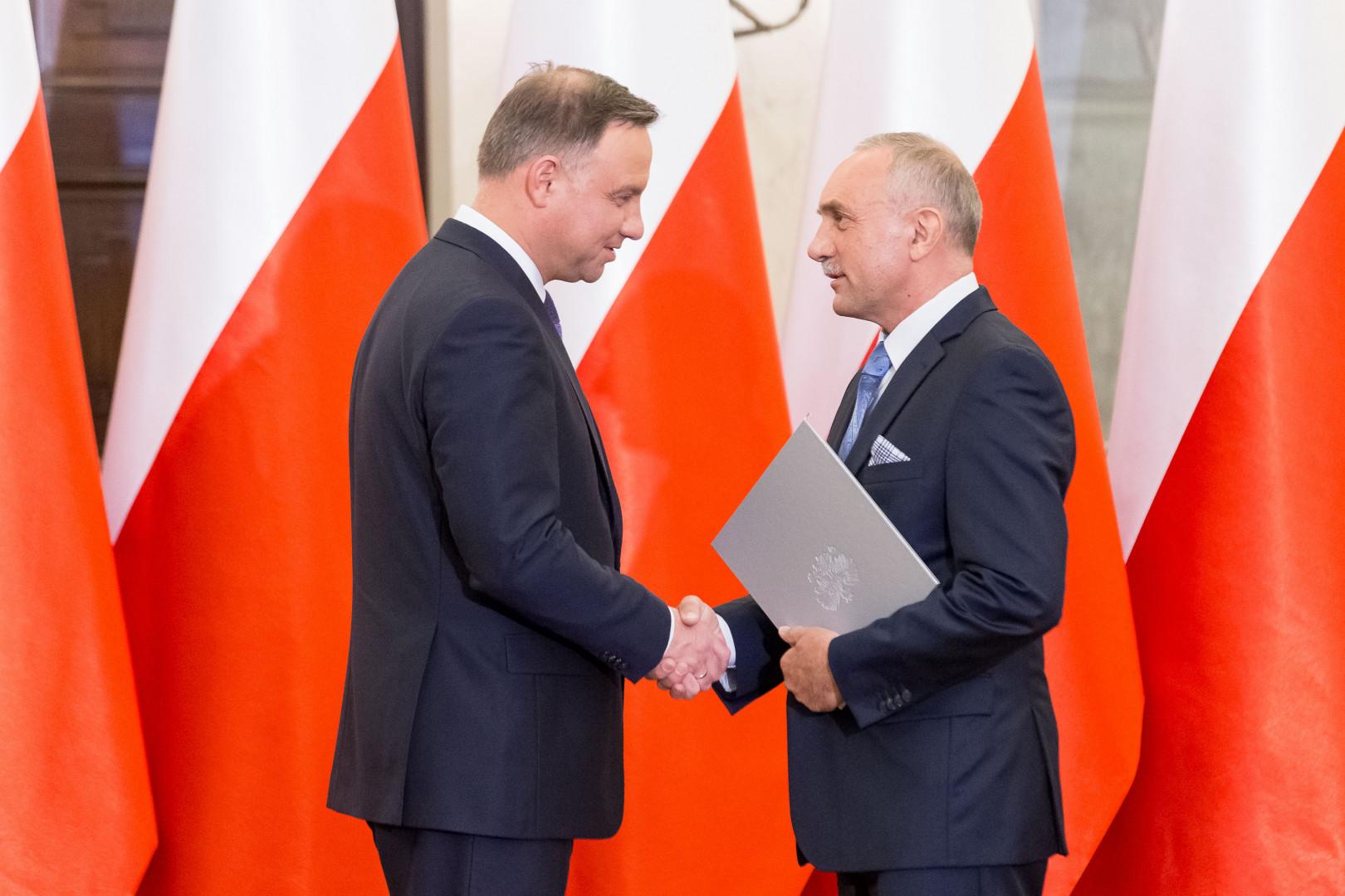Jan Szynaka odebrał nominację z rąk Prezydenta RP Andrzeja Dudy