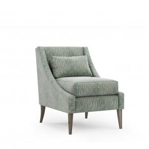 Fotel wykończony tkaniną z kolekcji