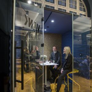 Berlińska premiera nowego boksu akustycznego firmy Vank. Fot Silke Reents