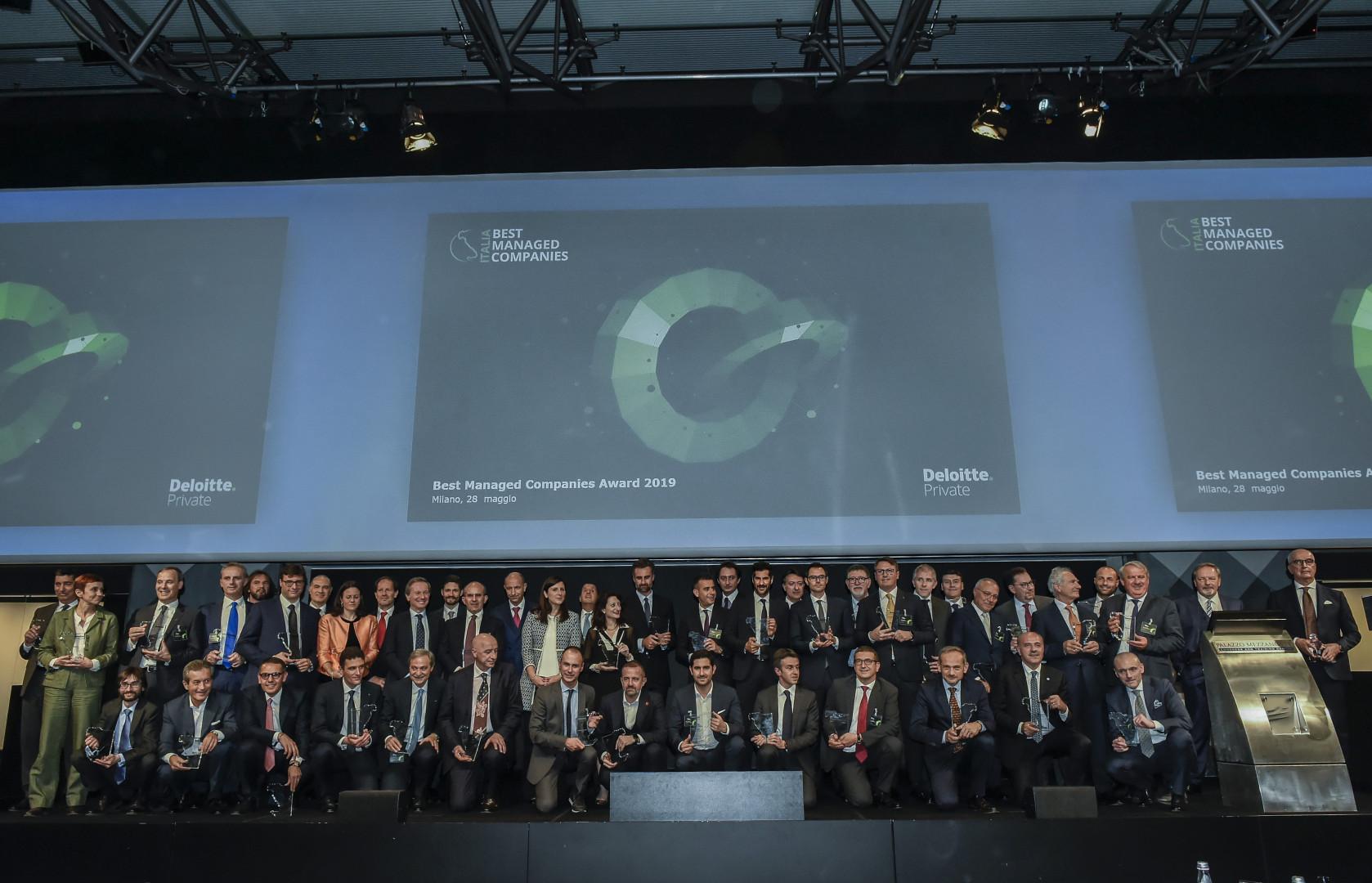 Uroczystość wręczenia nagród w rankingu Deloitte. Fot. Grupa Biesse