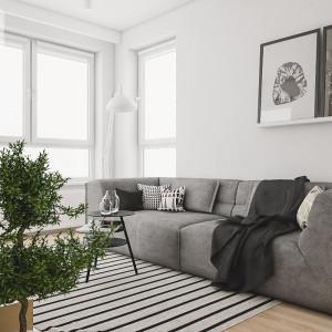 Sofa firmy Adriana w realizacji Spacja Studio