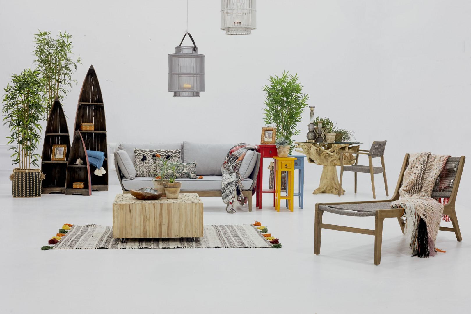 """W skład kolekcji """"Boho"""" marki Miloo Home wchodzi również leżak ogrodowy. Fot. Miloo Home"""