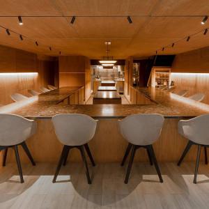 Restauracja Atomix w Nowym Jorku, z meblami BoConcept