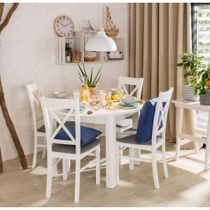 Stół z okrągłym blatem. Fot. Agata