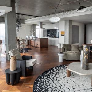 The Signature Apartment (45. piętro). Powierzchnia: 198 m2. Projekt:  Kooku. Fot. Kooku