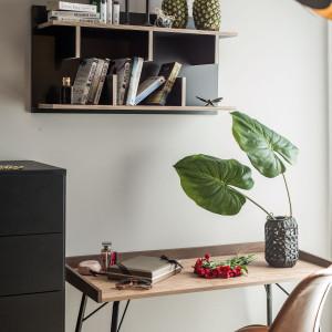 Wszystkie elementy wyposażenia są spójne stylistycznie i utrzymane w jednolitej kolorystyce brązu, drewna i szarości. Fot. Kodo