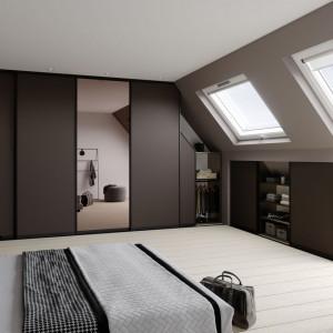 Sypialnia pod skosami. Fot. Raumplus