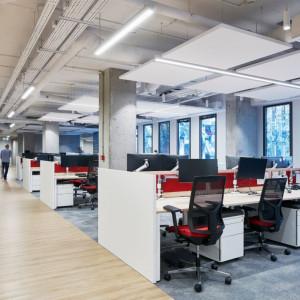 Biuro firmy Infor. Projekt: The Design Group. Fot. Rockfon