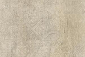 Dekor łączący grafikę z rysunkiem drewna