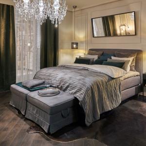 Łóżko kontynentalne marki IKEA. Fot. Kuba Certowicz