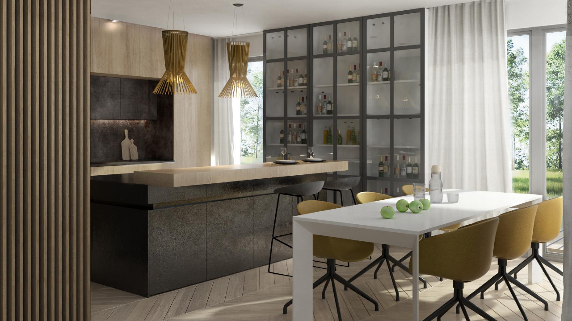 Wnętrze Corner House (kuchnia). Projekt: 3DProjekt. Fot. 3DProjekt