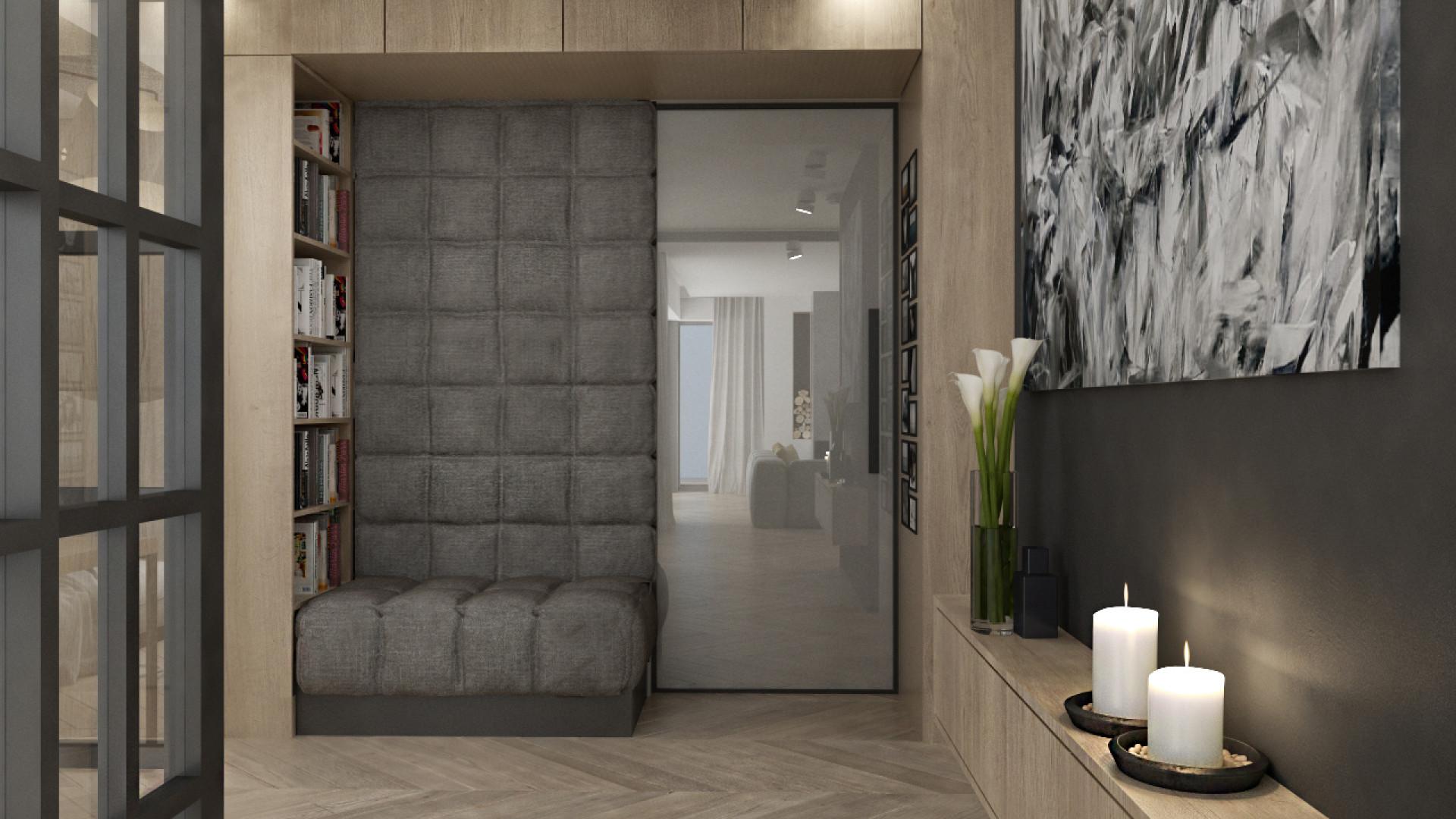 Wnętrze Corner House (korytarz). Projekt: 3DProjekt. Fot. 3DProjekt