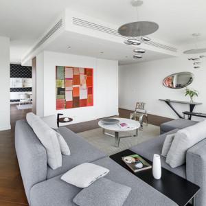 Apartament Glace Złotej 44. Projekt Aksonometria