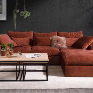 Ruchome poduszki na siedzisku i oparciu, zastosowane w sofie
