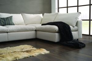 Komfortowe sofy z wypełnieniem z pierza