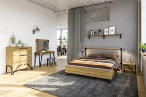 Sypialnia w loftowym stylu