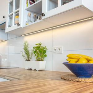 Ledy można wykorzystać do oświetlenia blatu roboczego w kuchni. Fot. GTV