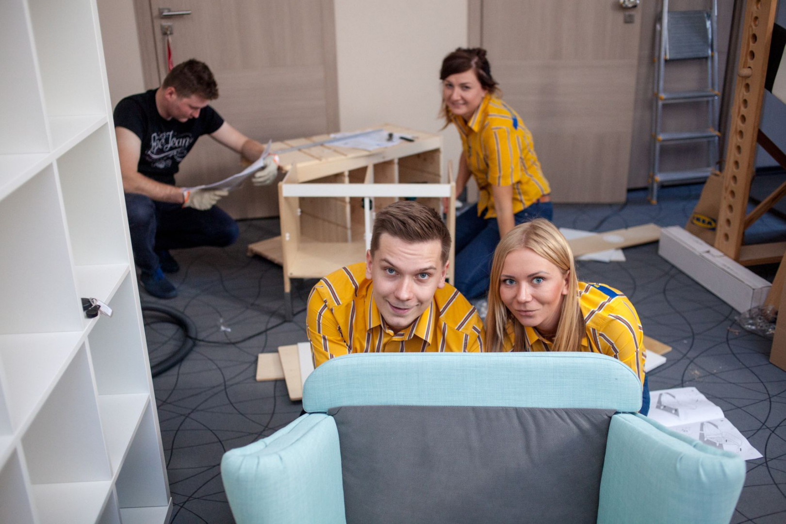 Pracownicy IKEA Kraków wyposażyli kąciki dla dzieci. Fot. IKEA