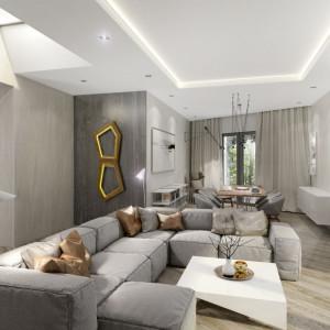 Wnętrze domu Moody-Woody (salon). Projekt: 3DProjekt. Fot. Materiały prasowe