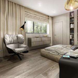 Wnętrze domu Moody-Woody (sypialnia). Projekt: 3DProjekt. Fot. Materiały prasowe
