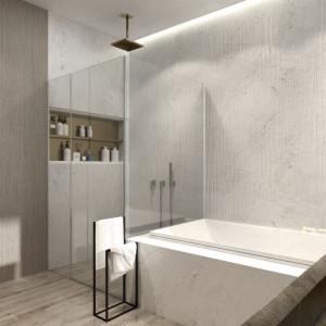 Wnętrze domu Moody-Woody (łazienka). Projekt: 3DProjekt. Fot. Materiały prasowe