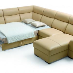 """Funkcja spania zastosowana w narożniku """"Grand Vario"""" marki Etap Sofa. Fot. Etap Sofa"""