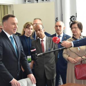 Prezydent Andrzej Duda przemawia w Sali Posiedzeń. Fot. materiały prasowe