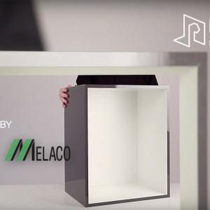 Element do mebli Flick&Click/Melaco. Produkt zgłoszony do konkursu Meble Plus - Produkt 2020.