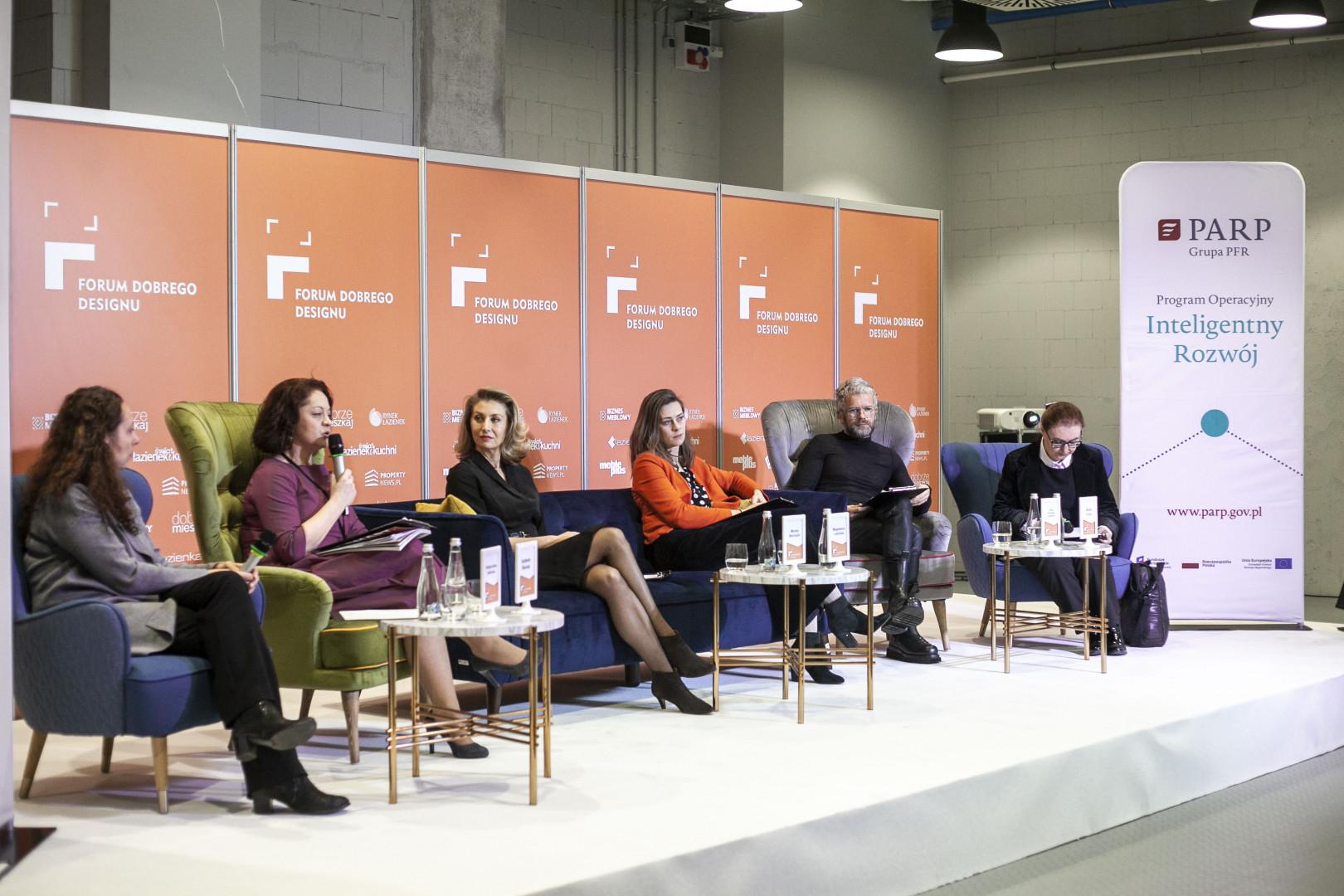 """Podsumowanie pilotażu """"Granty na dizajn"""" odbyło się 5 grudnia 2019 roku w trakcie Forum Dobrego Designu w Warszawie. Fot. PTWP"""