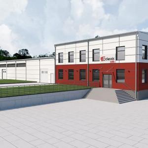 Budowa nowej fabryki mebli tapicerowanych Classic Sofa w Lidzbarku. Fot. serwis prasowy Classic Sofa