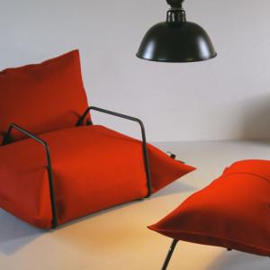 W kolekcji Blow są również fotel i pufa, a pokrowce na worki są szyte m.in. z filcu, wełny i dakronu.
