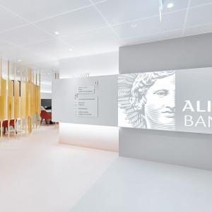 Projekt wnętrz oddziału Alior Banku autorstwa Roberta Majkuta