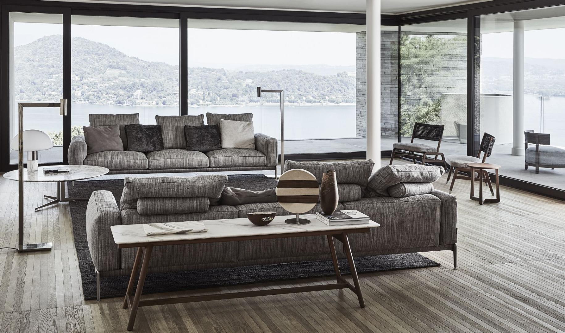 Sofa Romeo, projekt Antonio Citterio. Nowość 2020. Fot. Flexform