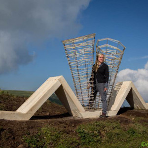 Dorota Koziara stworzyła instalacja rzeźbiarską na wysokości 2300 m n.p.m. zatytułowaną