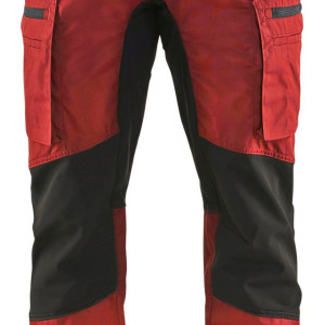 Blaklader -spodnie warsztatowe ze stretchem czerwono-czarne
