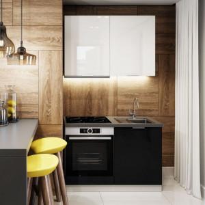 Kuchnia Akrylic marki Classen to ponadczasowe połączenie czerni i bieli.